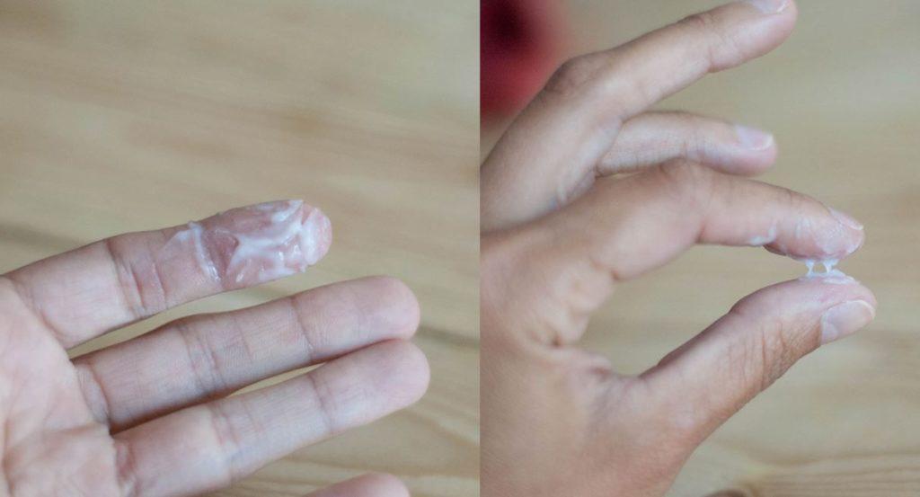 Прозрачная сперма с белыми сгустками очень
